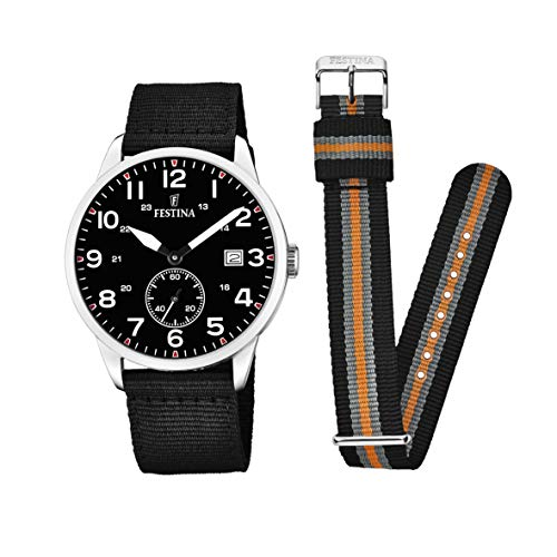 Festina Unisex Adult Analogue Classic Quartz Watch with Nylon Strap F20347/3