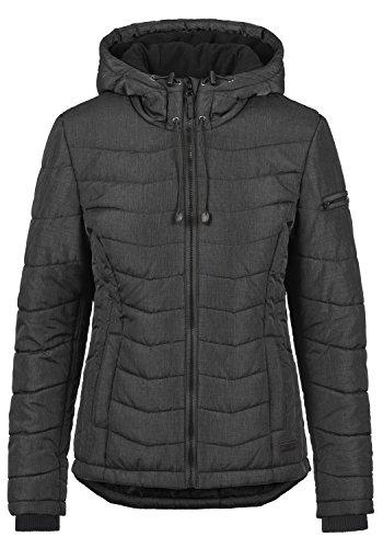 Blend She Nyla Damen Steppjacke Übergangsjacke Jacke Mit Kapuze, Größe:XXL, Farbe:Black (20100)
