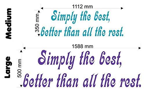 Preisvergleich Produktbild Wonderous Wall Art Wandtattoo,  Motiv Simply The Best (Tina Turner),  groß,  Papier / Vinyl