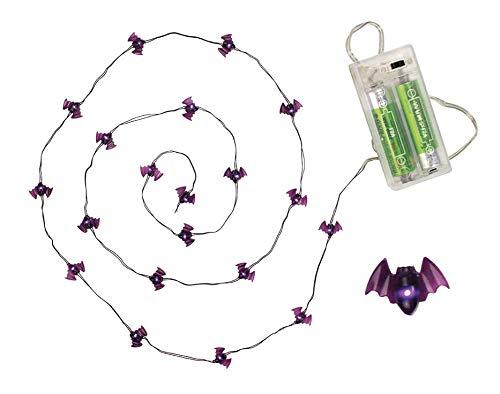 Megacrea DIY Girlande Leuchtend Halloween Fledermaus 20 Leds 1,25m