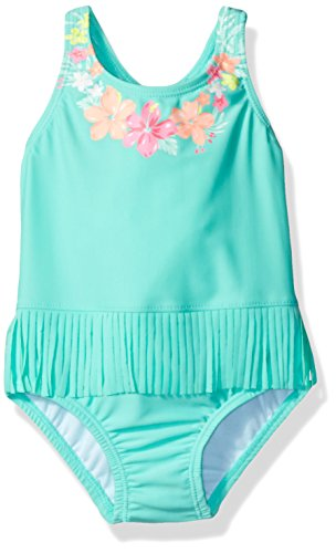 Carter's Girls' Infant Hula One Piece Swimsuit, Green, 12MO