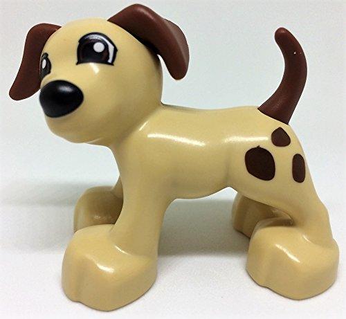 LEGO DUPLO Bauernhof Tiere Hund sandfarben mit braunen Punkten Zoo Zirkus