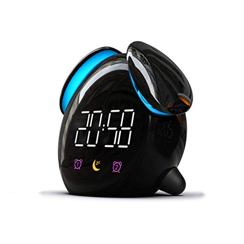 Unbekannt Wecker USB-ladegerät Snooze Sprachsteuerung Berührungsempfindliche Nachtlicht Digital Loud Home Schlafzimmer Nacht Kinder Student Geschenk (Color : A, Size : 12.8cm*7cm*11cm)