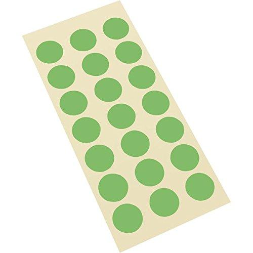 LEMAX® Markierungspunkt, grün, Haftpapier, ablösbar, Ø 25mm, 21/Bogen