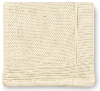 Pirulos 28012314 - Toquilla tricot texturas, 80 x 110 cm, color crudo