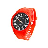 Sbao Homme - Montre Homme pas ch?�re Silicone Rouge SBAO 2860