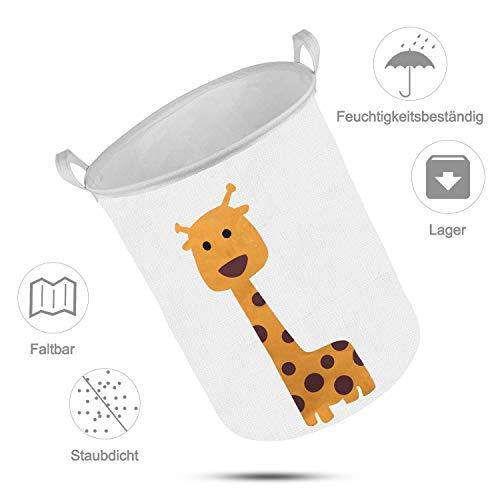 Cesto de ropa sucia para niños con diseño infantil de jirafa