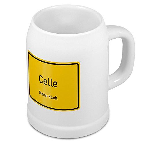 Bierkrug mit Stadtnamen Celle - Design Ortschild - Städte-Tasse, Becher, Maßkrug