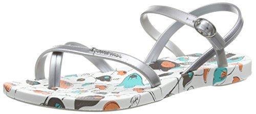 Ipanema Fashion Sand. Iii Fem Damen Zehentrenner Mehrfarbig (white silver 8436)