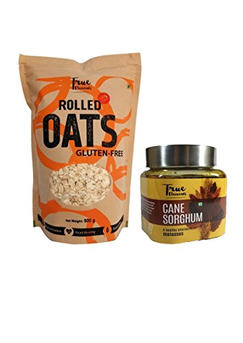 True Elements Rolled Oats(500g) & True Elements Cane Sorghum(300g) Combo, 800g