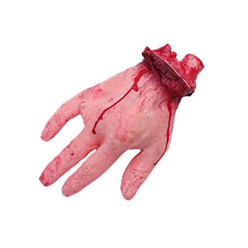 Loveso-Halloween Spielzeug 1 PC Halloween Blutige Hand Haunted House Horror Props-Partei-Dekoration (Diy Spinnennetz Kostüm)
