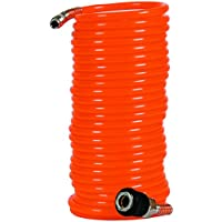 Einhell 4139420 - Tubo en espiral para compresor, 8 m, 8 bar, diámetro 6 mm, color naranja