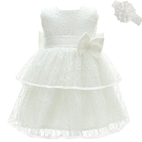 AHAHA Abiti da Battesimo per Le Neonate Principessa Abito da Sposa per Bambini Festa di Compleanno Abiti