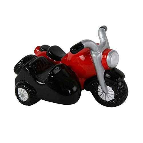 Roomando Spardose Motorrad + Beiwagen mit Stöpsel Keramik
