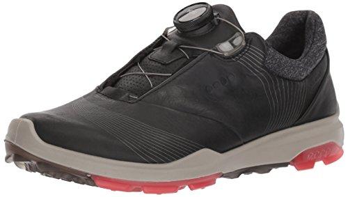 Ecco Chaussures de Golf pour Homme Blanc Blanc - Noir - Black/Teaberry, 38 EU