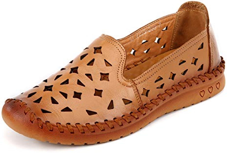 FLYRCX Estate in pelle traspirante fondo morbido antiscivolo scarpe basse sandali da donna scarpe singole da lavoro...   Buona reputazione a livello mondiale    Scolaro/Ragazze Scarpa
