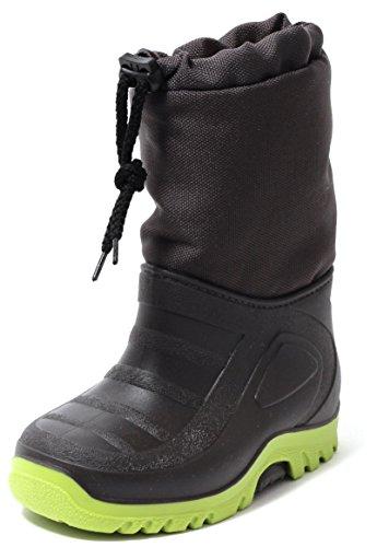 Kinder Stiefel Schneestiefel Snowboot Duck Boot Winterstiefel Gr.23-30 WARM WASSERDICHT Gummi Galosche und Alu Isolierung ANTHRAZIT GRAU / LIMONE (29/30) (Herren-duck-stiefel)