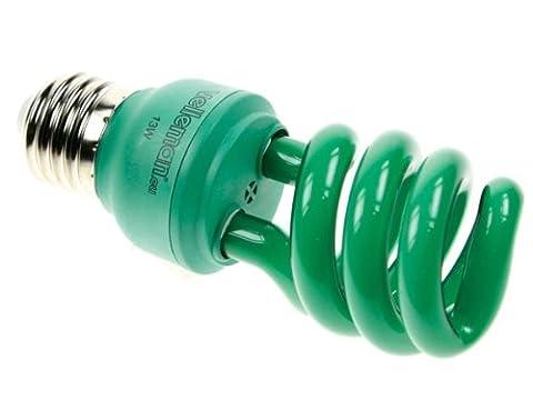 Velleman lae1e5F Mini ampoule à économie d'énergie spirale t3, culot E27, 13W, 240V, vert