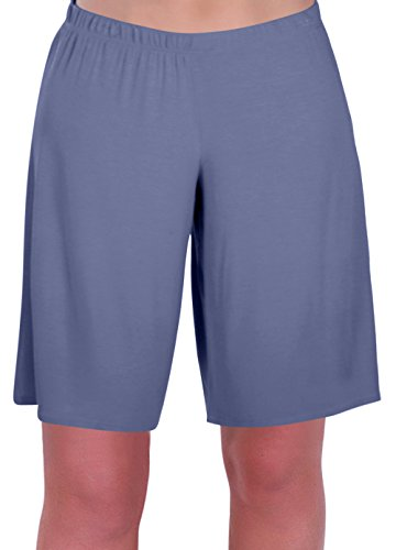 EyeCatch - Stern Damen Jersey Entspannt Komfort Elastisch Flexi Strecken Damen Kurze Hose Plus Größen (38/40, Denim Blue) - Denim-shorts Strampler