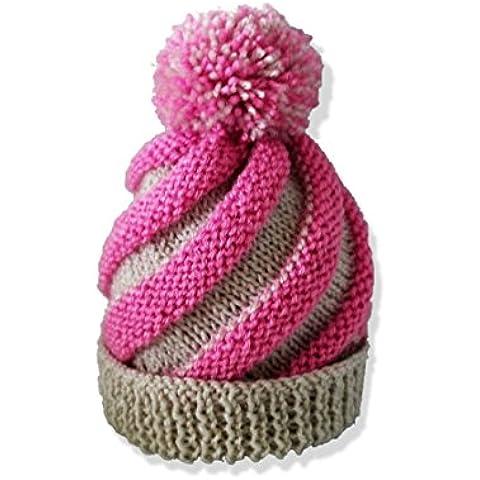 Sombrero hecho punto del bebé del bebé, gorrita tejida, sombrero del bobble del remolino, sombrero del pom pom, sombrero de Bobble, sombrero del remolino, hecho a mano, sombrero del invierno, beanie del pom pom