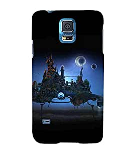 Samsung Galaxy S5 Neo :: Samsung Galaxy S5 Neo G903F :: Samsung Galaxy S5 Neo G903W halloween day full moon night fairy castle Designer Printed High Quality Smooth hard plastic Protective Mobile Case Back Pouch Cover by Paresha