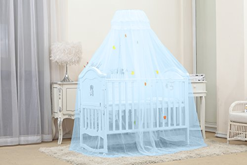 Kiddale Mosquito Net With Stand(3 Position Adjustable Height) To Fix On Baby Crib, Bed Or Cot (Blue)