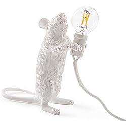 "Seletti Lampada In Resina Mouse Lamp#1"" Cm.6X13,3 H. 14,5 - In Piedi"