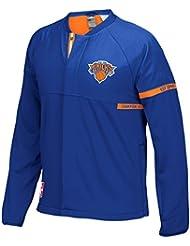 New York Knicks Adidas 2016 NBA Men's On-Court Warm-Up Full Zip Jacket Veste