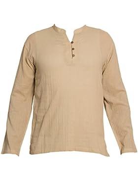 PANASIAM Camicia Casual - Maniche lunghe - Uomo