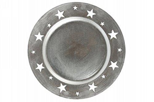 Galileo Casa étoile Dessous de Plat, mélamine, Argent, 33 x 33 x 2 cm