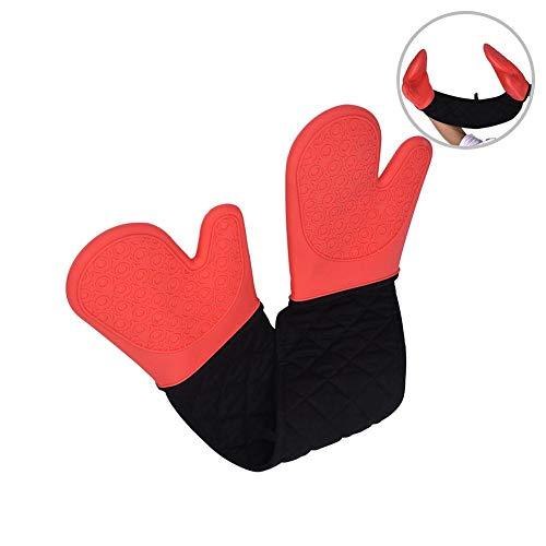 350g BBQ-Silikon-Handschuhe, dicke Isolierhandschuhe der Küche, hitzebeständiger Ofen-Handschuhe, Mikrowellen-Ofen-Backen-kochende Handschuhe der Küche für das Backen