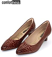 COMFORTNESS Brown Croc Design Shoe for Women