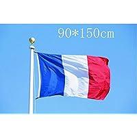 Drapeau de la France 5 * 3ft / 150 * 90cm drapeau de polyester Idéal pour l'extérieur et l'intérieur grand drapeau français