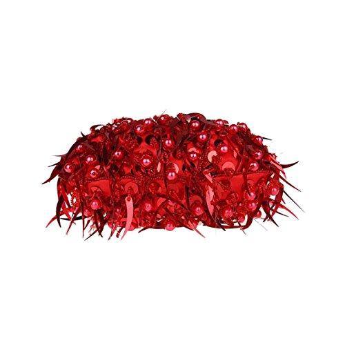 Mini Perline Paillettes Borsa A Mano Moda Borsa Da Sera Abito Borsa Da Banchetto Cheongsam Sposa Borsa A Mano Red