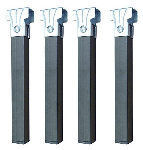 IMEX EL ZORRO 4er-Set Beine ohne Räder, Metall, Neutral, 25 x 3 x 3 cm