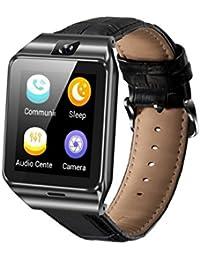 QF09 Android iOS Reloj Inteligente con Tarjeta SIM Bluetooth Ranura para Tarjeta TF Control Remoto de