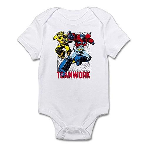 Transformers Teamwork Babybody für Babys, einteilig Gr. 80, weiß