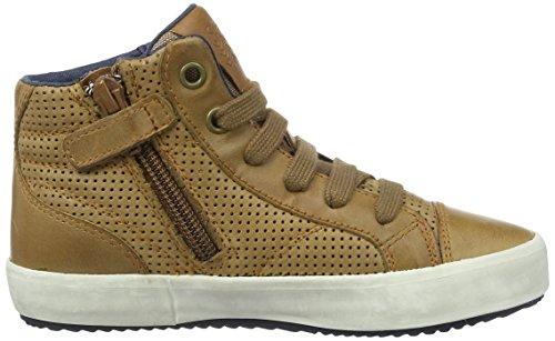 Geox J Alonisso B, Sneakers Hautes Garçon Marron (Cognacc6001)