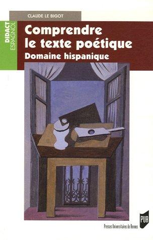 Comprendre le texte poétique : Domaine hispanique