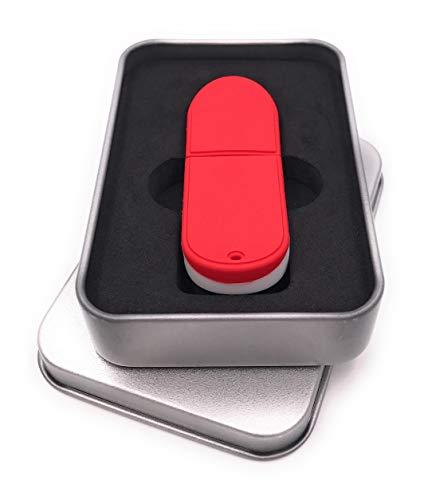 Onwomania Skateboard Skaten Board Rot USB Stick in Alu Geschenkbox 8 GB USB 2.0
