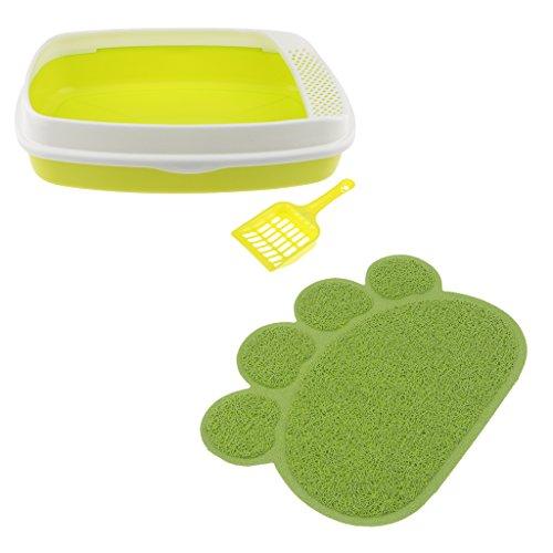 MagiDeal Pattumiera per Gatti Contenitori per Vaschette per WC Non Spruzzati Pattumiera per Tappetino per Animali Domestici