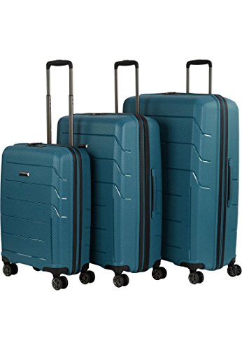 Franky Travel 4-Rad Trolley-Set 3tlg PP9 petrol