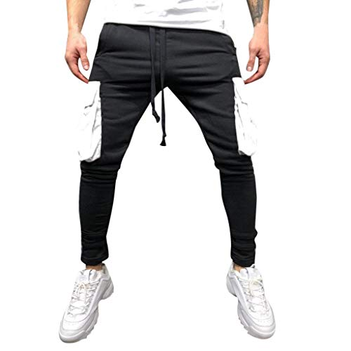 IMJONO Hosen 2019 Ausverkauf,Mode Männer Sport Jogging Fitness Hose beiläufige lose Jogginghose Drawstring ()