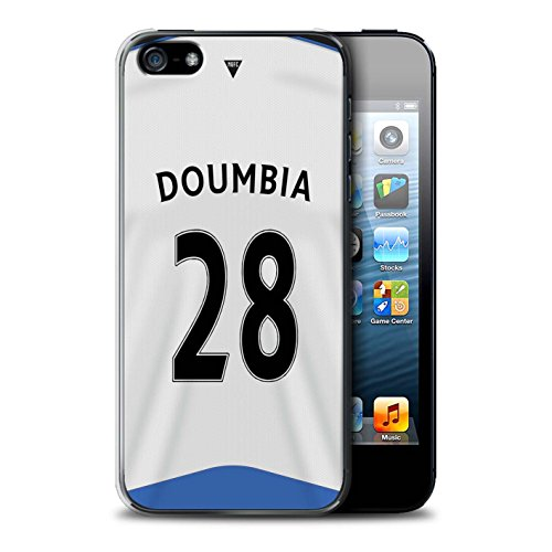 Offiziell Newcastle United FC Hülle / Case für Apple iPhone 5/5S / Colback Muster / NUFC Trikot Home 15/16 Kollektion Doumbia