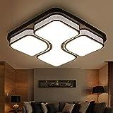 MYHOO 48W LED Deckenleuchte Modern Deckenlampe Flur Wohnzimmer Lampe Schlafzimmer Küche Energie Sparen Licht Wandleuchte Warmweiß(3000K-3500K) [Energieklasse A++]