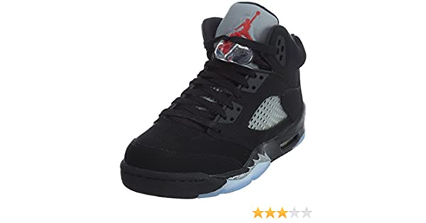 best website ba068 fc4a3 Nike Air Jordan 5 Retro OG BG, Espadrilles de Basket-Ball Homme - Noir -  Noir (Noir Rouge Feu-Metallic Silver-White), 38 EU  Amazon.fr  Chaussures  et Sacs