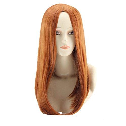 F-blue Brown Goldene Synthetische Perücken, Mittlere Länge Glattes Haar Frauen-Perücken - Länge Synthetische Perücke