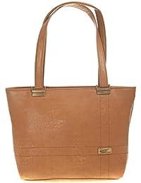 Aliado Faux Leather Solid Brown Coloured Zipper Closure Tote Bag For Women For Women