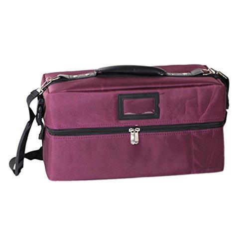 nser® Professional Multifunktions-Kosmetik Boxen Mädchen Cosmetics Fällen Frauen Tragbare Make-up Speicher Handtaschen Specialized Make-up Halter Leder Kulturtaschen violett 39cm(L)*20cm(H)*20cm(W) (Kinder-kunst-speicher)