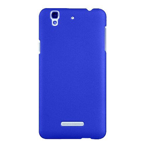 SDO Luxury Matte Finish Rubberised Slim Hard Case Back Cover for Micromax YU Yureka Plus - Blue